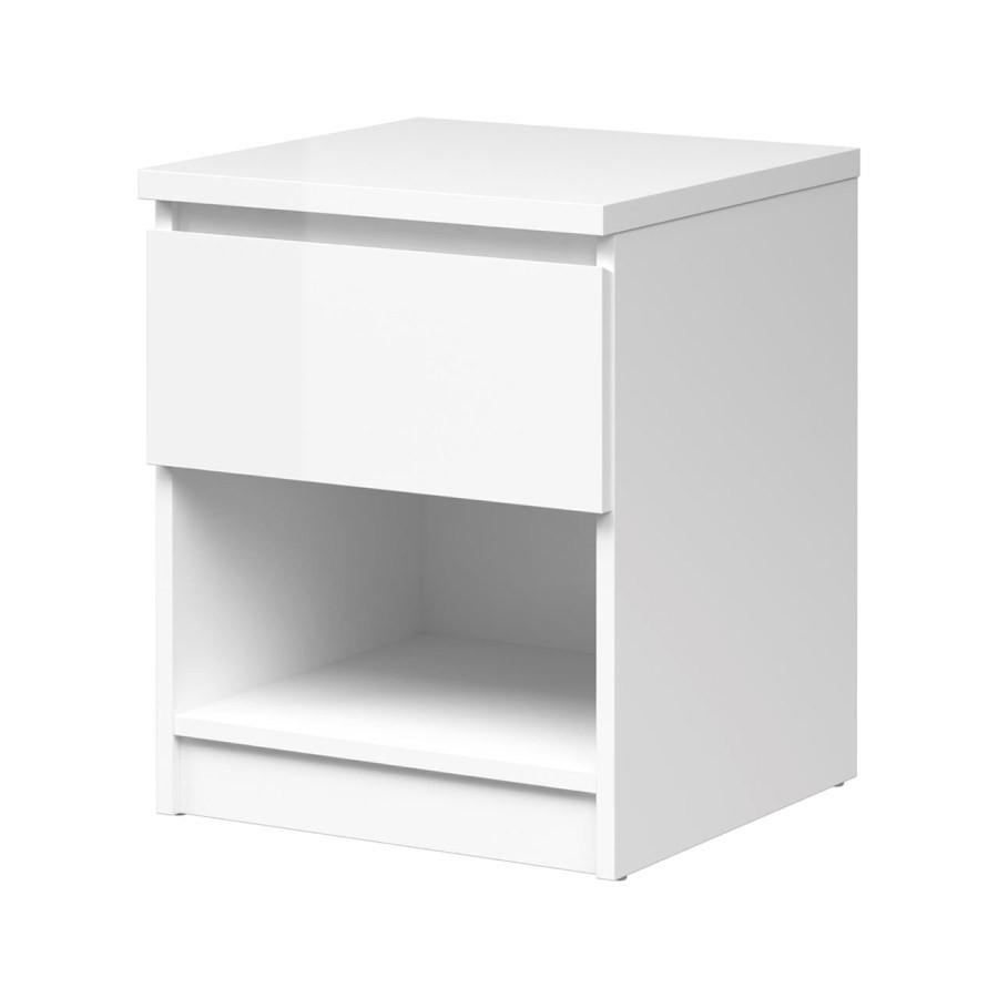 Falco Noční stolek Simplicity 238 bílý lesk