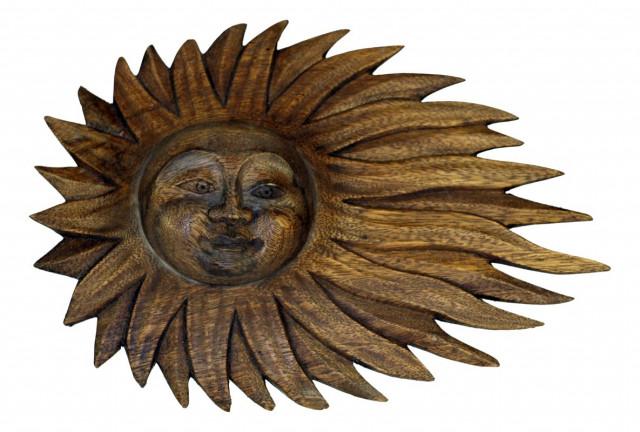 Dřevořezba slunce FGR15-09