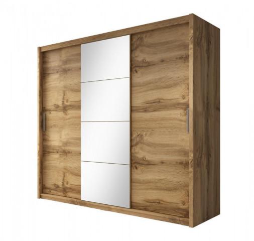 Skříň se zrcadlem Niobe 235 dub wotan