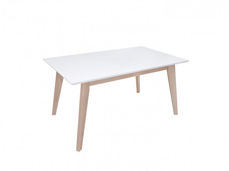 Jídelní stůl AMMAN - dub sonoma/bílá