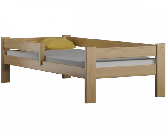 Dětská Postel DP 018 - Surové dřevo, pro matraci 70x160 cm, bez úložných prostorů