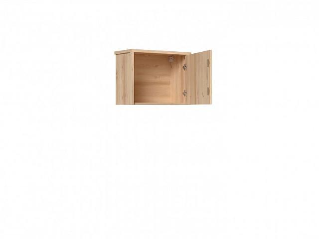 Závěsná skříň Namek SFW1D - buk iconic/bílý lesk/šedá č.3