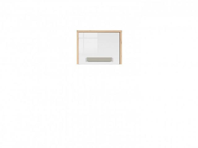 Závěsná skříň Namek SFW1D - buk iconic/bílý lesk/šedá č.5