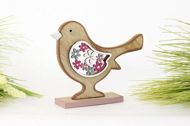 Dřevěný ptáček KLA425