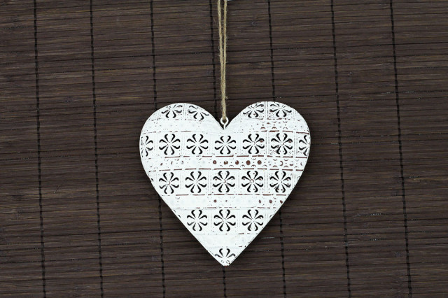 Kovová dekorace srdce ZA8669