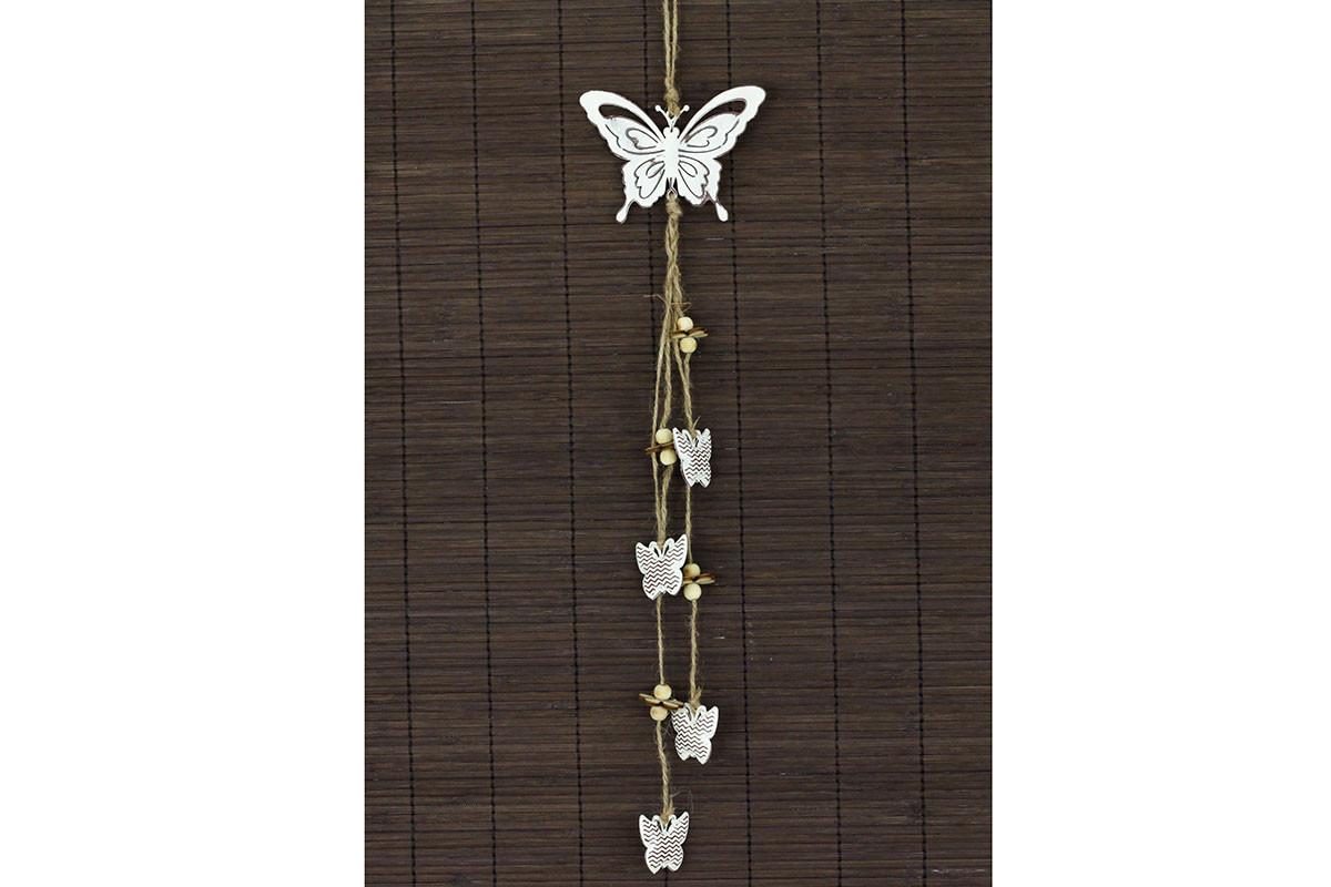 Autronic Kovová dekorace motýl ZA8667
