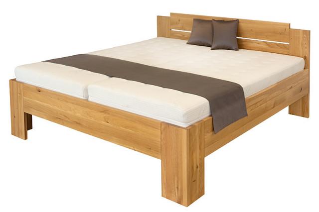 Dvoulůžková postel Grado - dub divoký