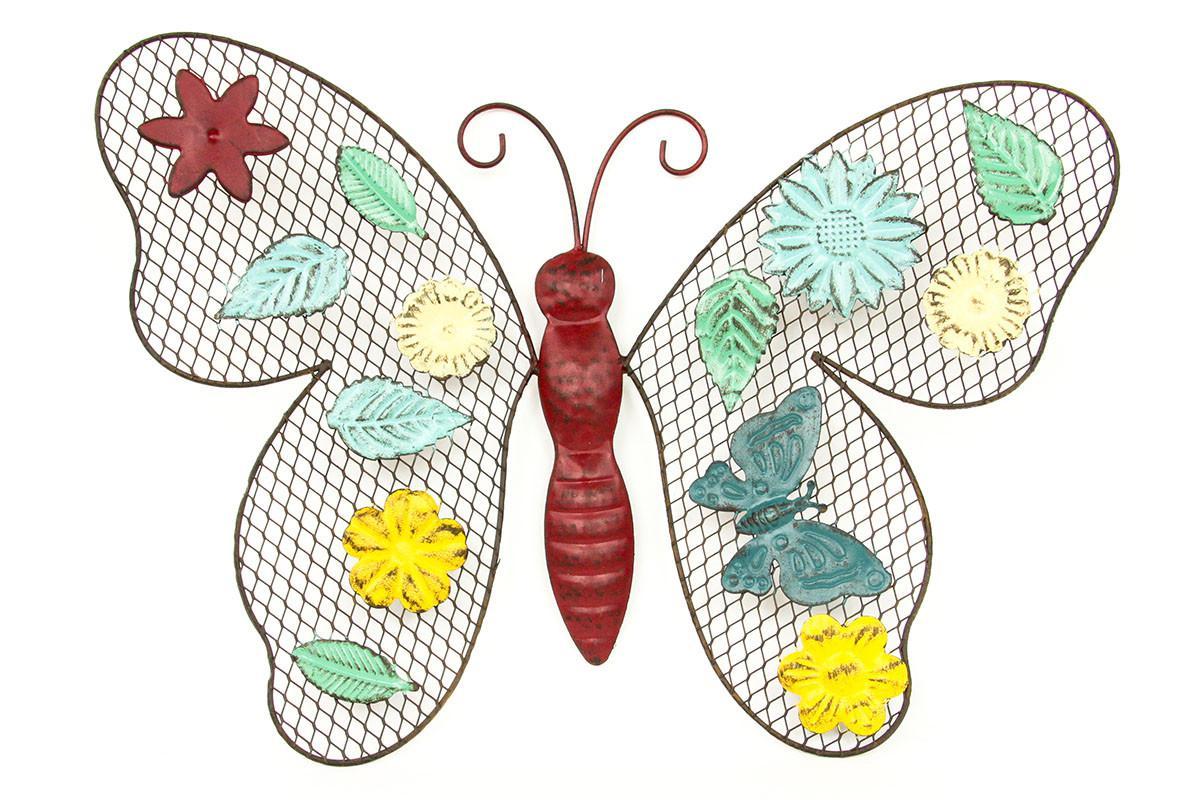 Autronic Nástěnná dekorace - barevný motýl HO4358