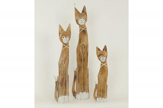 Dekorace kočka 3 kusy TAKSU-73