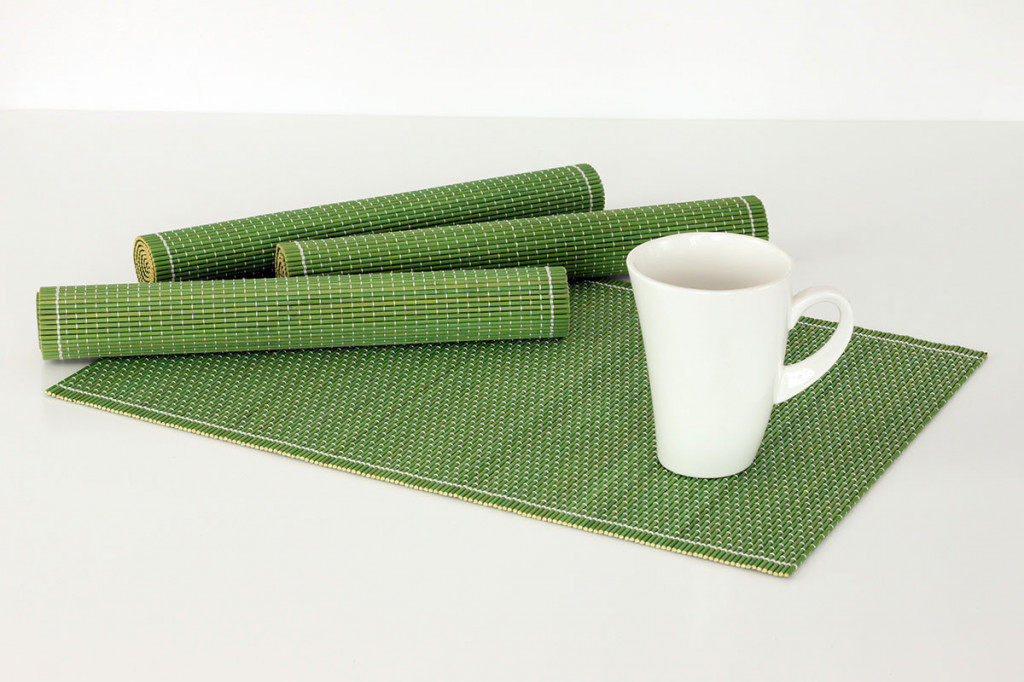 Bambusové prostírání (4 kusy) - zelené DK5041