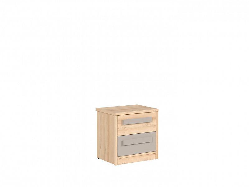 Noční stolek Namek KOM2S - buk iconic/šedá