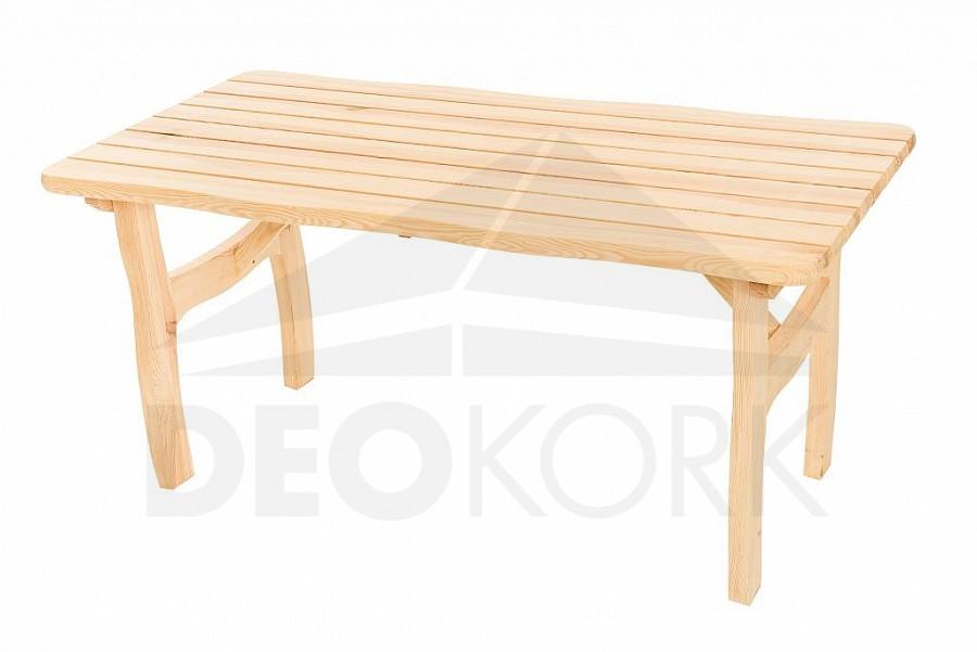 Deokork Masivní zahradní stůl z borovice VIKING (40 mm)