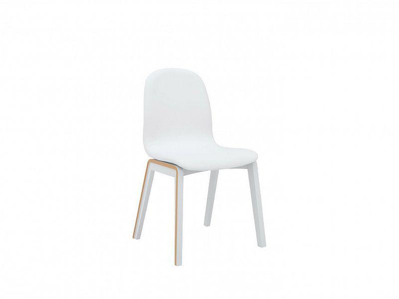 Jídelní židle Bari - Bílá/Dub přírodní