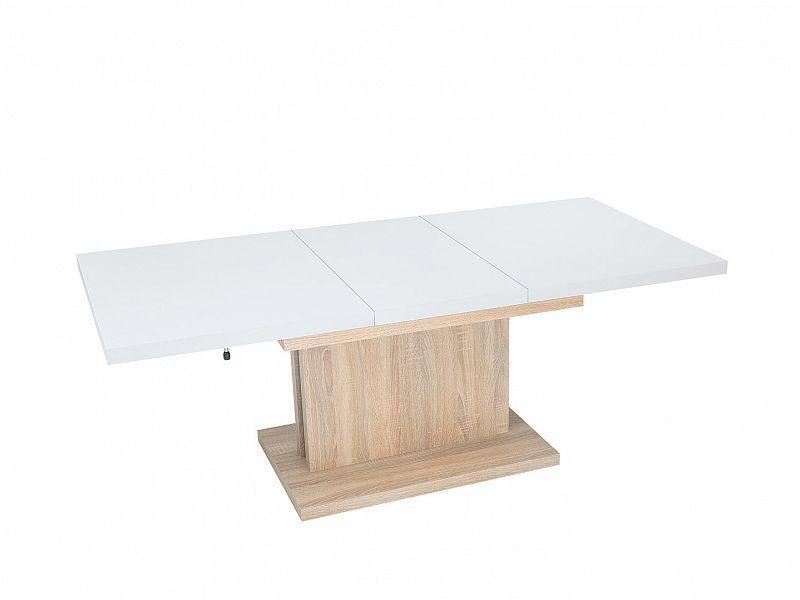 Konferenční stolek MILLI - bílá/dub sonoma