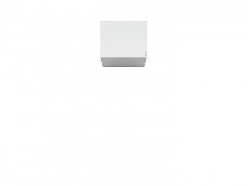 BRW Nástavec na skříň Princeton NAD/50 - bílý lesk/šedá