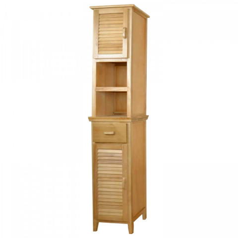 Vysoká skříňka 2 dveře + 1 zásuvka lak