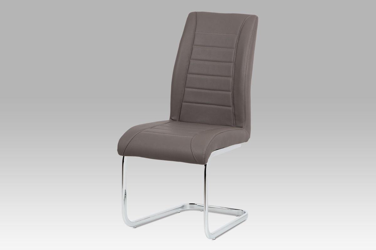 Autronic Jídelní židle HC-375 CAP koženka cappuccino