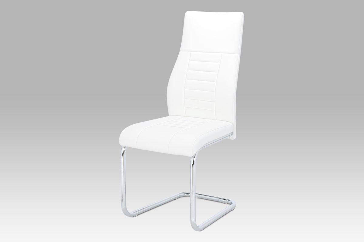 Autronic Jídelní židle HC-955 WT bílá koženka