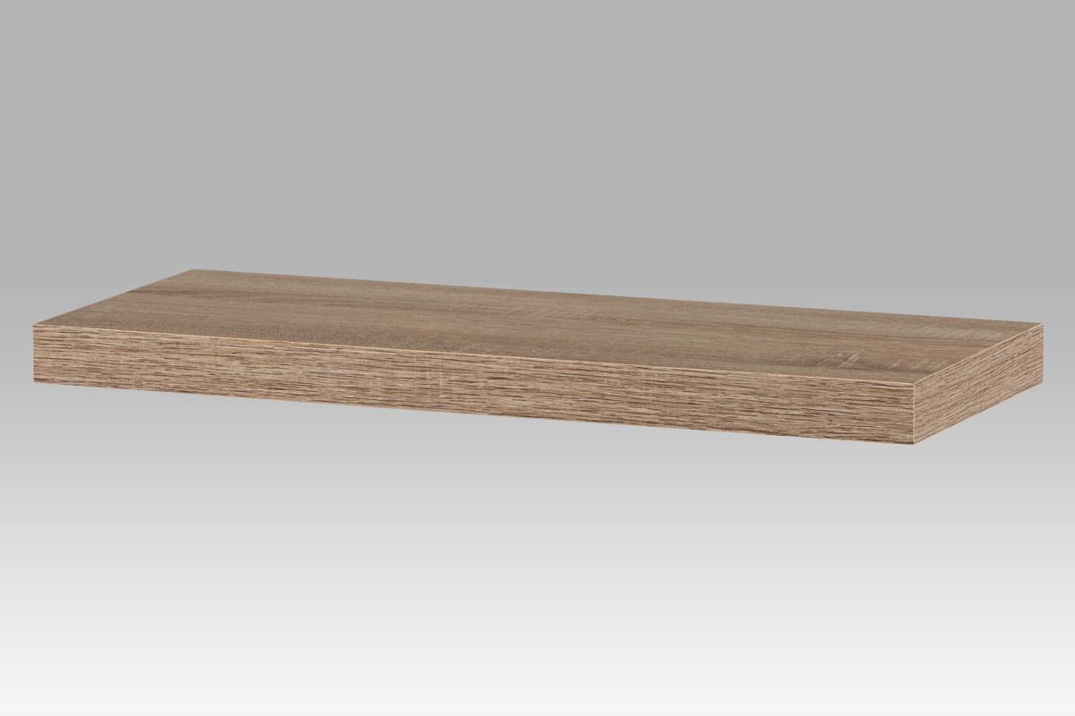 Autronic Nástěnná polička 60cm P-001 SON1 - dub sonoma