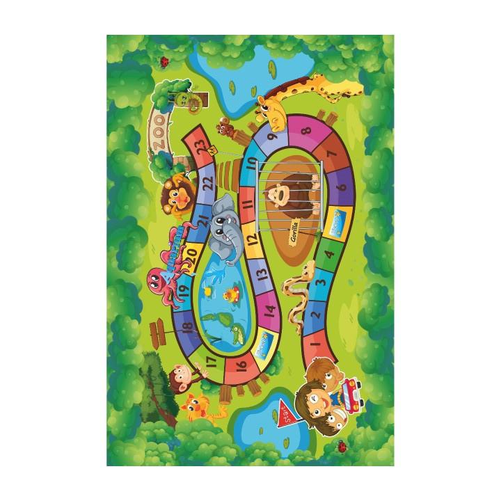 Tempo Kondela Koberec ZOAN, 100x150 - dětský vzor ZOO + kupón KONDELA10 na okamžitou slevu 3% (kupón uplatníte v košíku)