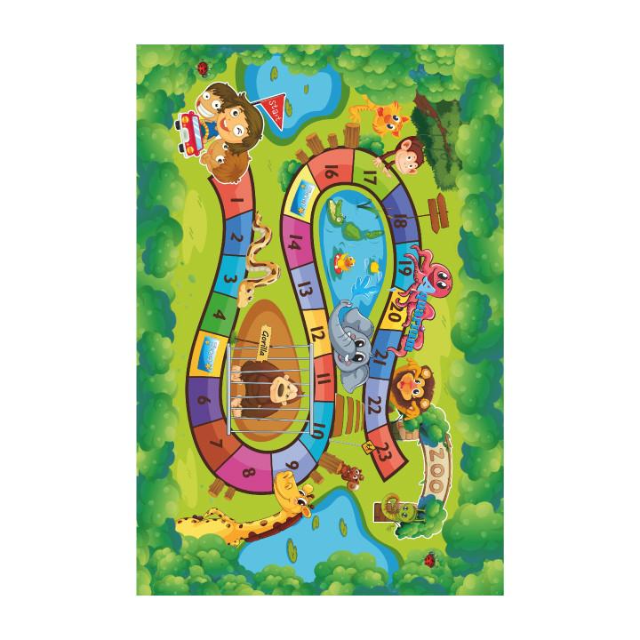 Tempo Kondela Koberec ZOAN, 130x200 - dětský vzor ZOO + kupón KONDELA10 na okamžitou slevu 3% (kupón uplatníte v košíku)