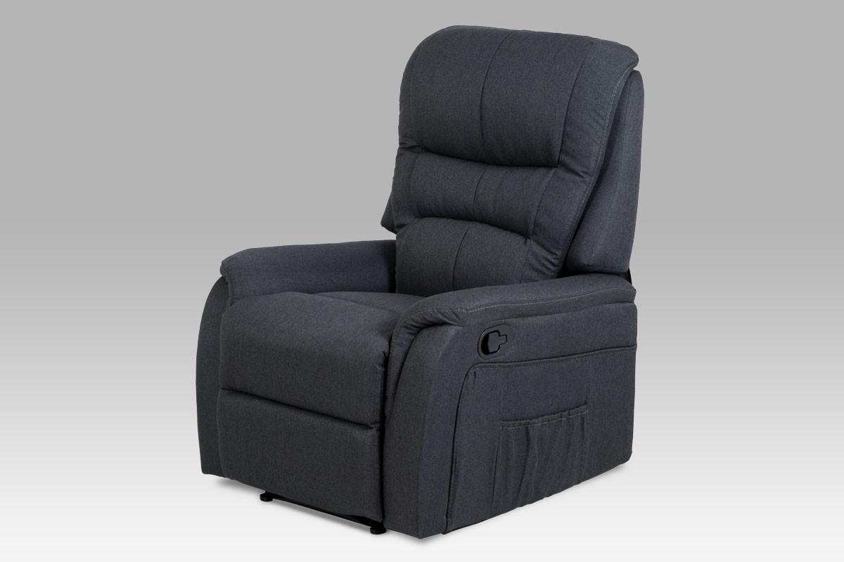Autronic Relaxační křeslo TV-5053 GREY2 - šedá látka