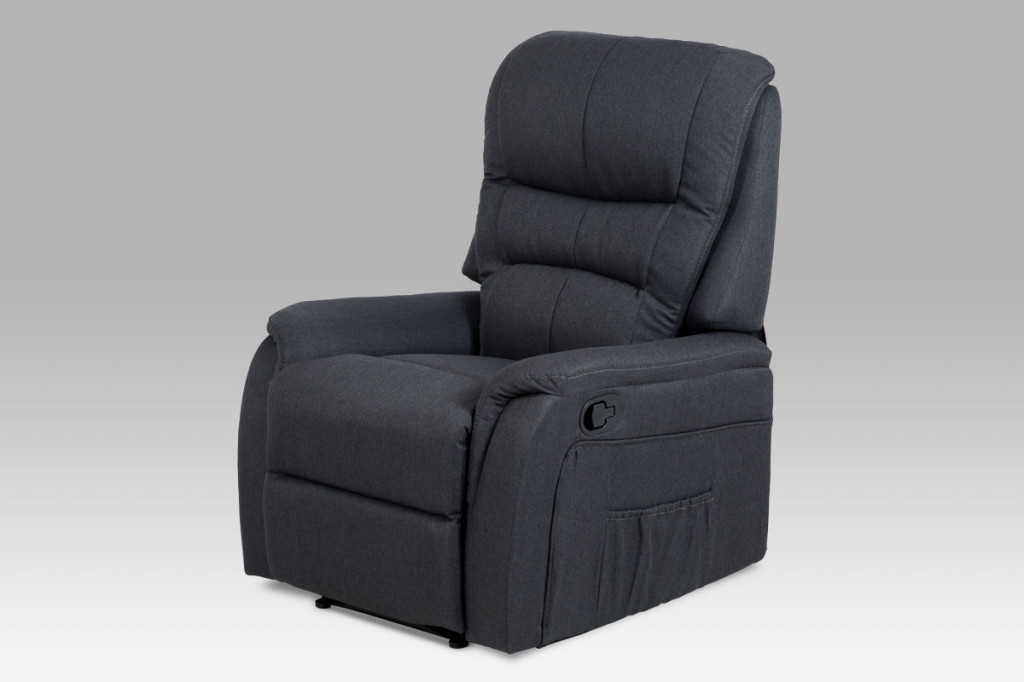 Relaxační křeslo TV-5053 GREY2 - šedá látka