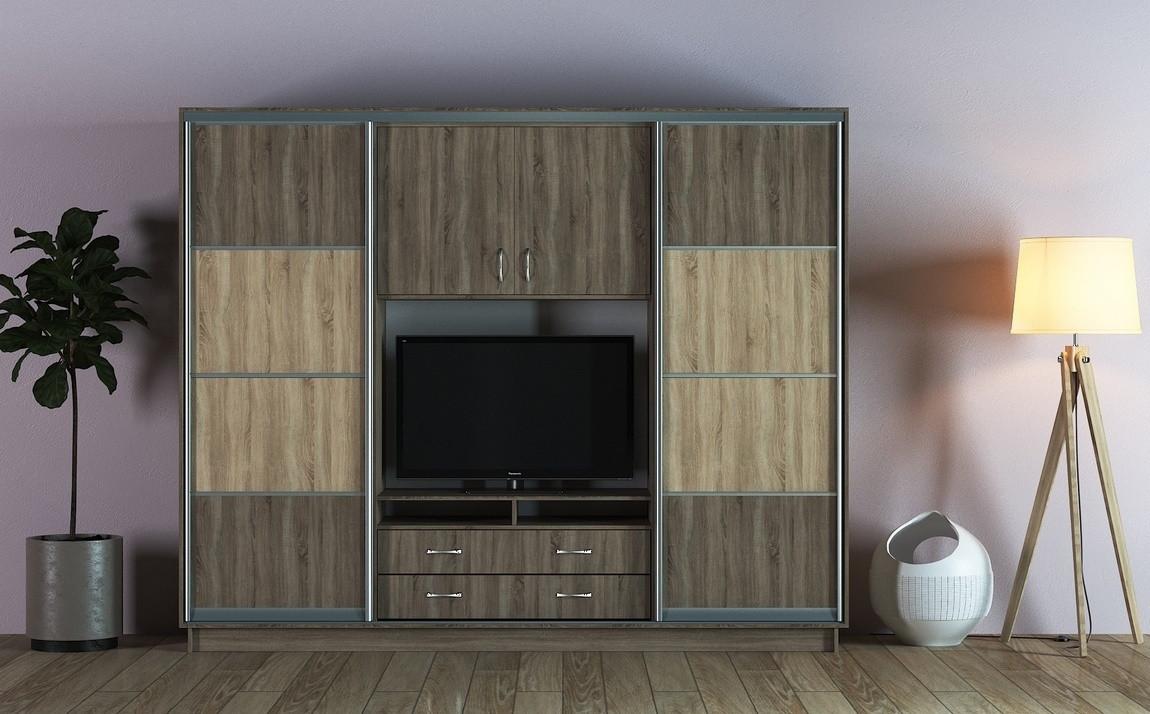 Casarredo Šatní skříň/TV stěna UNIVERSAL II 270 lanýž/sonoma