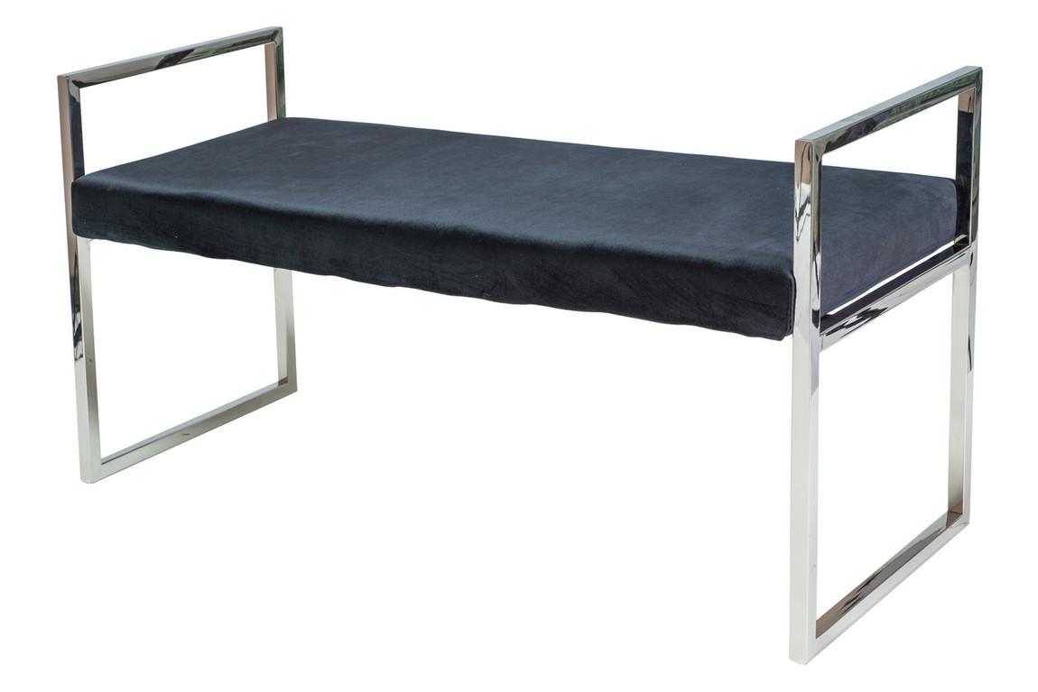 Casarredo Čalouněná lavice HERMES černá látka/chrom