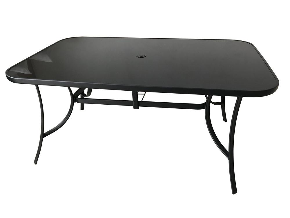 Zahradní stůl XT1012T (ZWT-150) - černé sklo