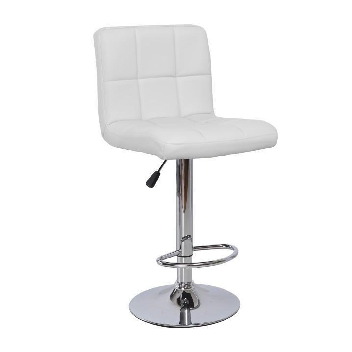 Tempo Kondela Barová židle KANDY New - ekokůže bílá / chrom + kupón KONDELA10 na okamžitou slevu 3% (kupón uplatníte v košíku)