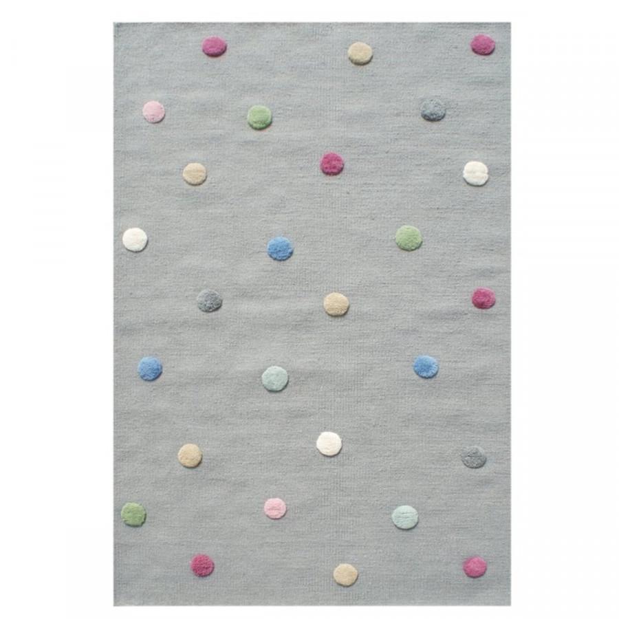 Forclaire Dětský koberec s puntíky - šedý 100x160 cm