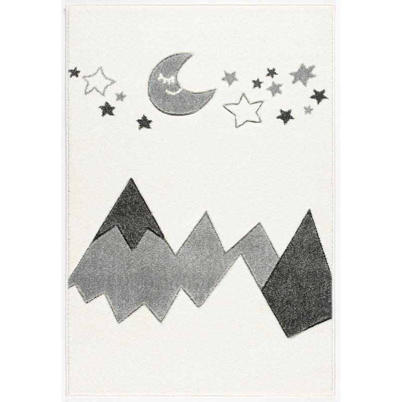 Forclaire Dětský koberec Hory - šedý 100x150 cm