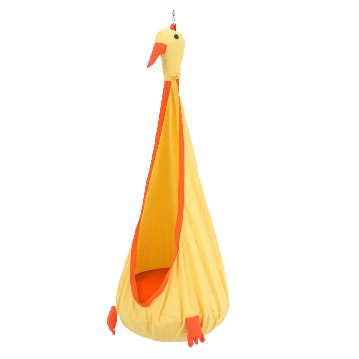 Tempo Kondela Závěsné křeslo TOLO - žlutá / oranžová + kupón KONDELA10 na okamžitou slevu 3% (kupón uplatníte v košíku)