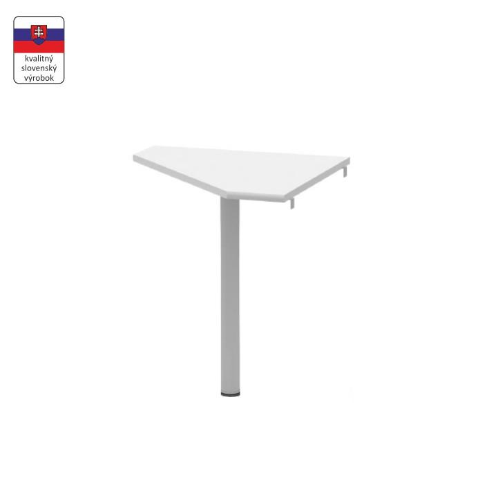 Tempo Kondela Rohový stolek JOHAN NEW 06 - bílá / kov + kupón KONDELA10 na okamžitou slevu 3% (kupón uplatníte v košíku)