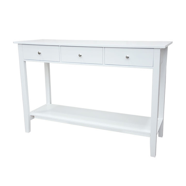 Tempo Kondela Konzolový stolek REDON - bílá + kupón KONDELA10 na okamžitou slevu 3% (kupón uplatníte v košíku)