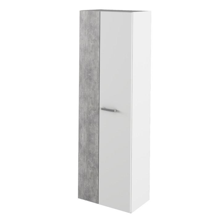 Tempo Kondela Skříň SIMA - bílá / beton + kupón KONDELA10 na okamžitou slevu 3% (kupón uplatníte v košíku)