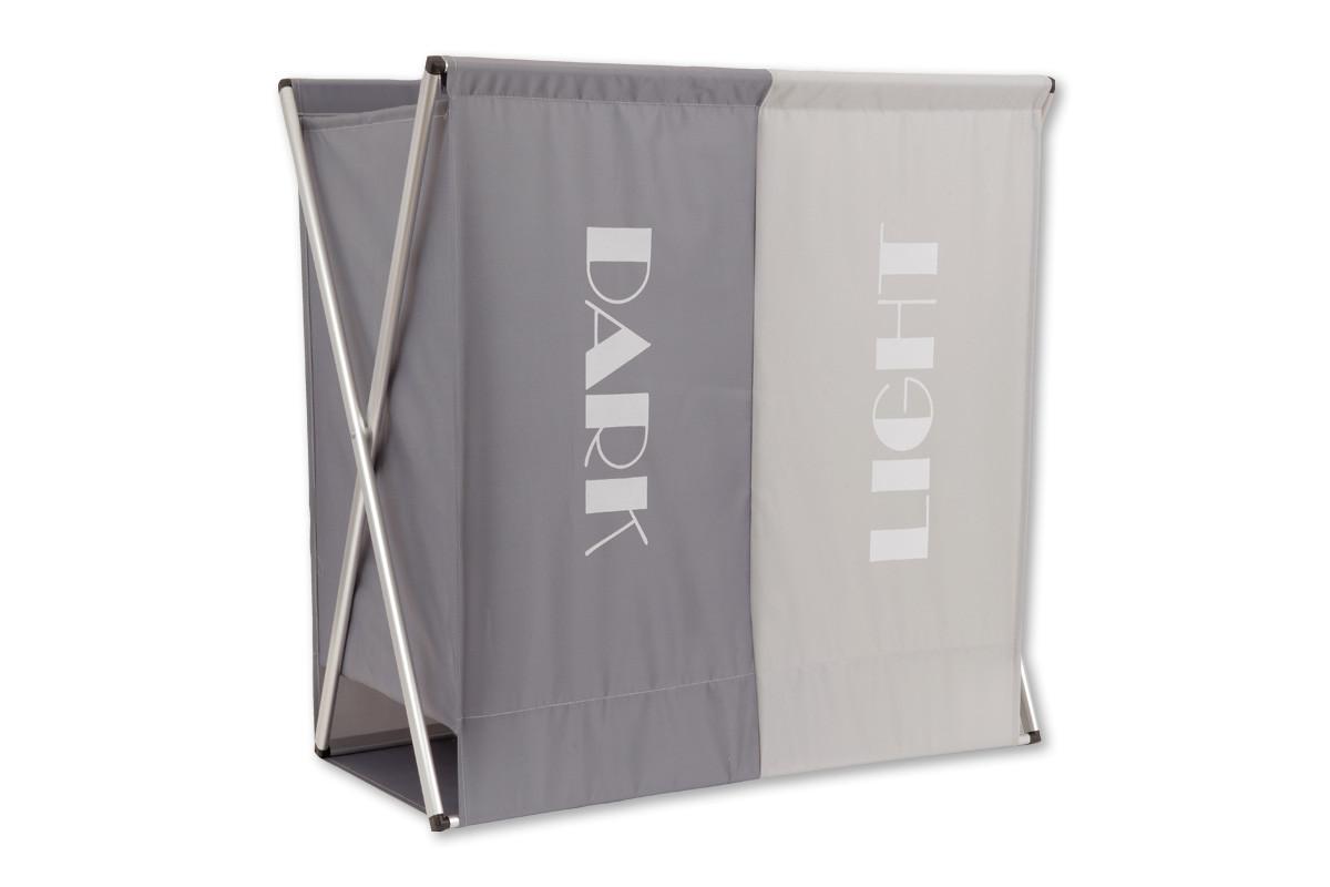 Autronic Koš na prádlo látkový D3110 - barva šedá