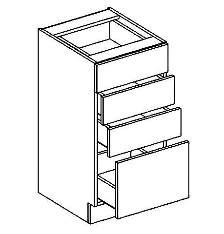Casarredo D40S4 dolní skříňka se zásuvkami PREMIUM de LUX olše