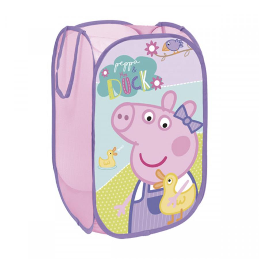 Forclaire Dětský skládací koš na hračky Prasátko Peppa