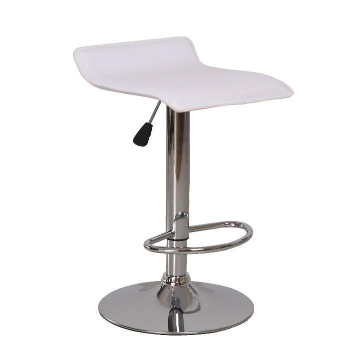 Tempo Kondela Barová židle LARIA NEW - ekokůže bílá/chrom + kupón KONDELA10 na okamžitou slevu 3% (kupón uplatníte v košíku)