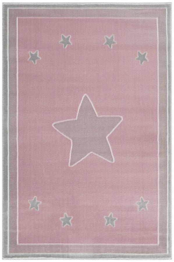 Forclaire Dětský koberec Princess Star- růžový 120x180 cm