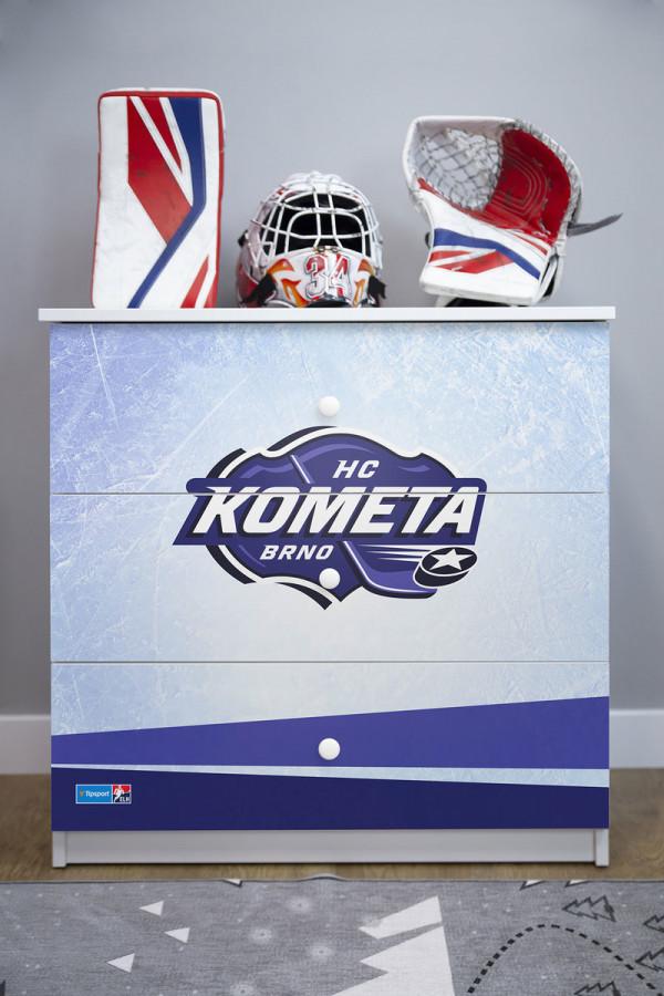 Forclaire Dětská hokejová komoda - HC Kometa Brno