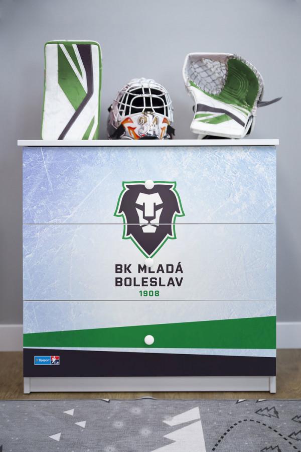 Forclaire Dětská hokejová komoda - BK Mladá Boleslav