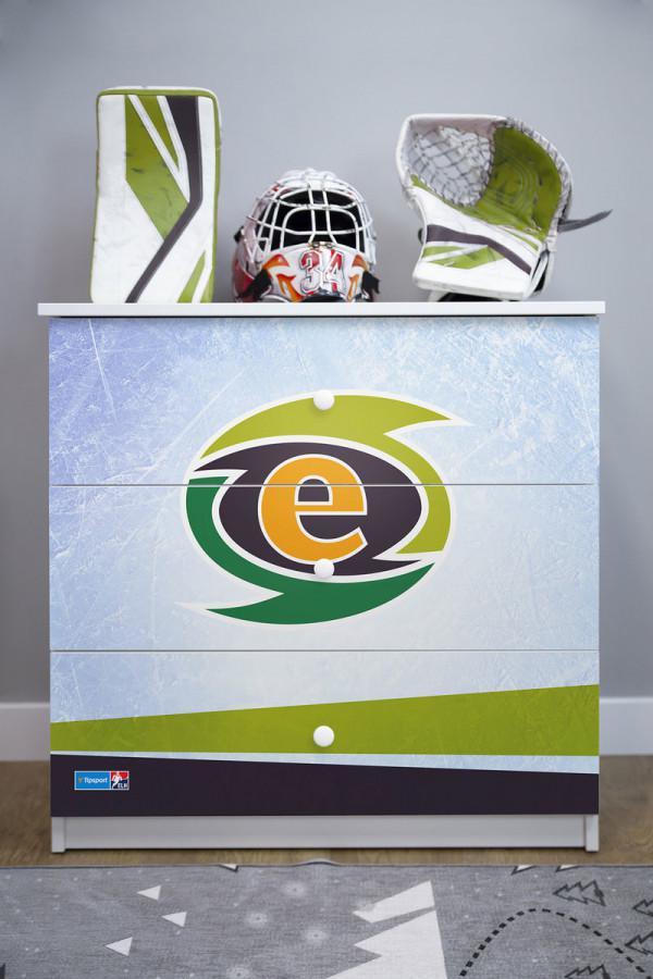 Forclaire Dětská hokejová komoda - HC Energie Karlovy Vary
