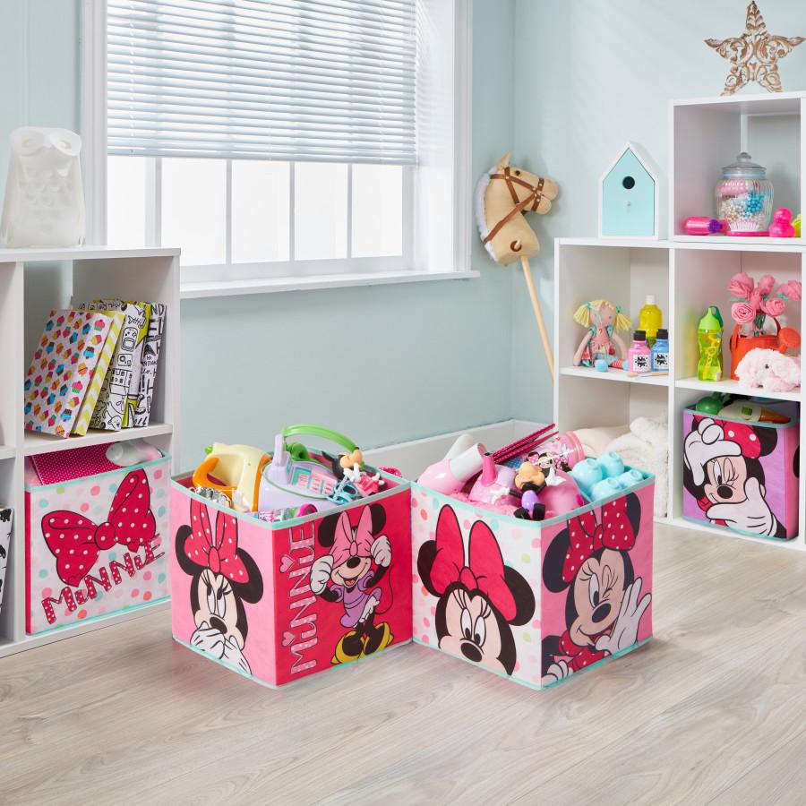 Forclaire Čtyři úložné boxy - Minnie Mouse