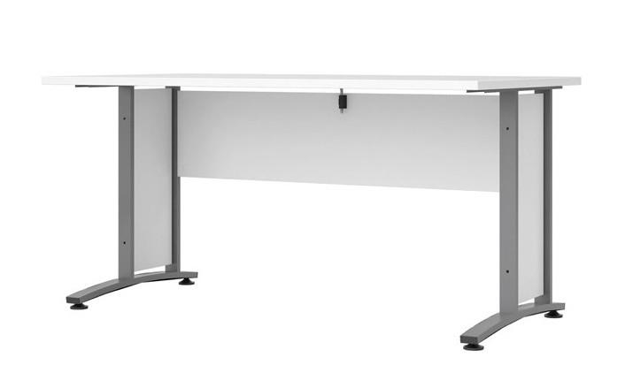 Falco Psací stůl Office 402/437 bílá/silver grey