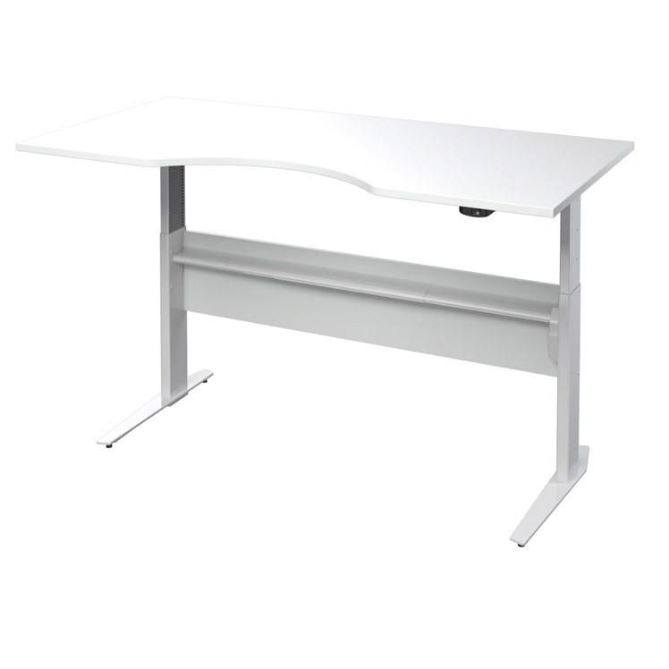 Falco Výškově nastavitený psací stůl Office 474/448 bílá/silver grey