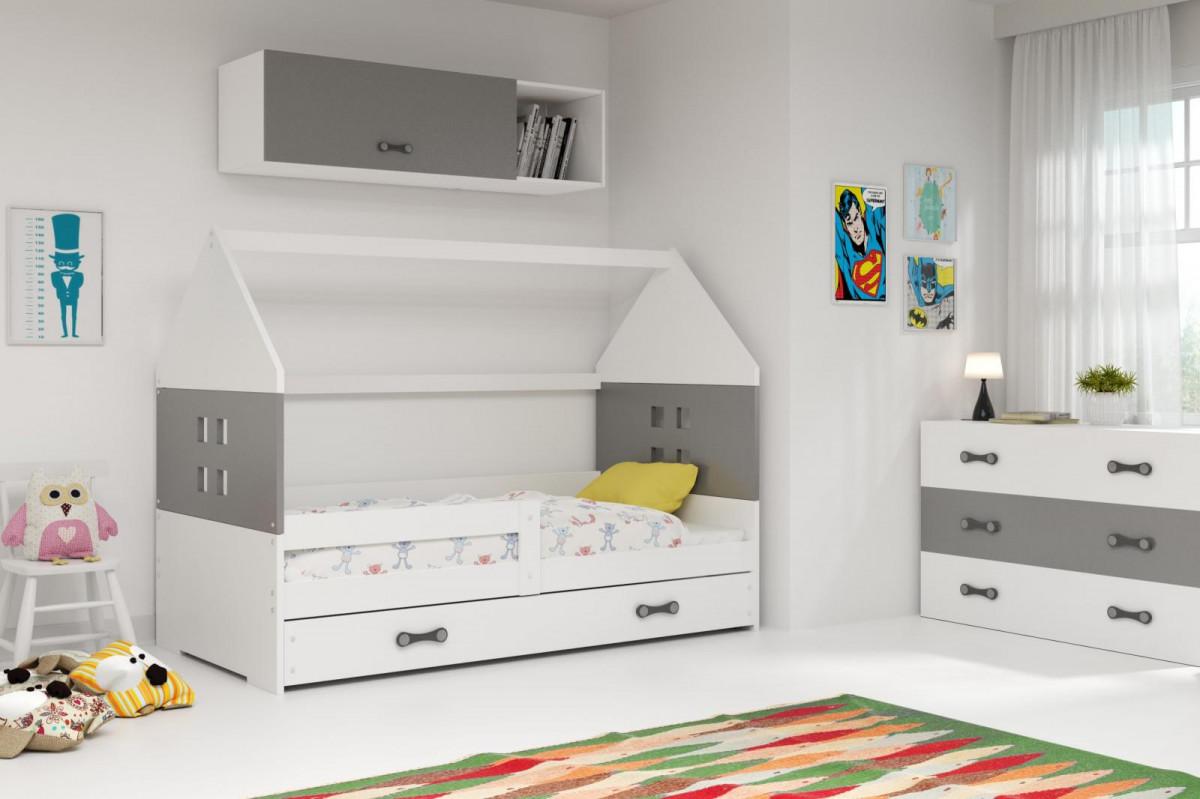 Falco Dětská postel Dominik 80x160 bílá/grafit