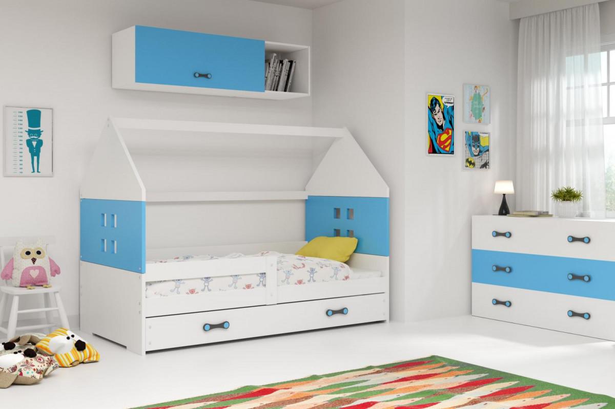 Falco Dětská postel Dominik 80x160 bílá/modrá